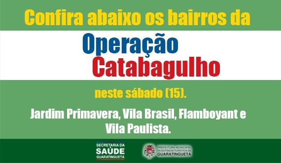 Prefeitura divulga a programação da Operação Catabagulho deste sábado (15)