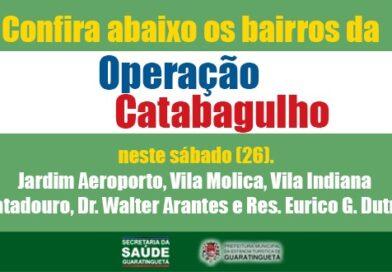 Confira a programação da Operação Catabagulho deste sábado (26)
