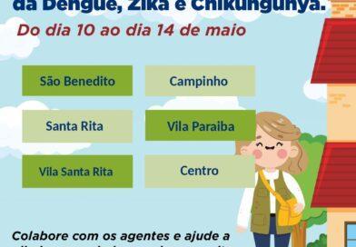 Confira a programação semanal dos agentes de combate a endemias
