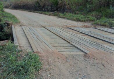 Secretaria de Agricultura conclui manutenção em ponte da Estrada dos Pilões