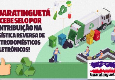 Guaratinguetá recebe selo por contribuição na logística reversa de eletrônicos e eletrodomésticos