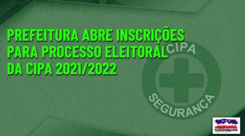 Prefeitura abre inscrições para processo eleitoral da CIPA 2021/2022