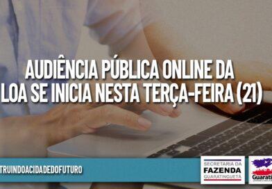 Audiência Pública Online LOA se inicia nesta terça-feira (21)