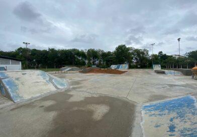 Segue em andamento a revitalização da pista de skate do Pedregulho!