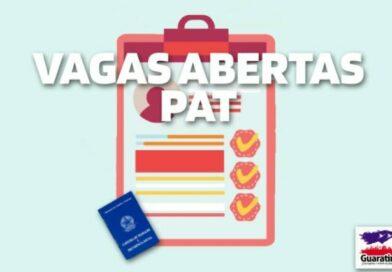 Atualização de vagas do PAT – 19/10/2021