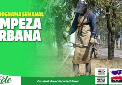 Confira a programação da limpeza urbana dessa semana!